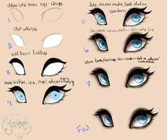 Eyes Step by Step by jessoterick.deviantart.com on @DeviantArt