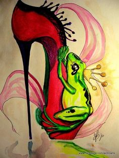 Priscilla Ainhoa Griscti Draws Fantasy Fairytale Stilettos trendhunter.com
