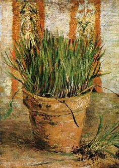 Vincent van Gogh - Flowerpot with chives