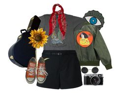 """""""Sin título #243"""" by starscounter394 on Polyvore featuring moda, Chicnova Fashion, Junk Food Clothing, Loveless, Pier 1 Imports, Yves Saint Laurent y Converse"""