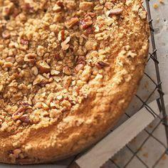 Pumpkin-Sour Cream Coffee Cake with Pecan Streusel