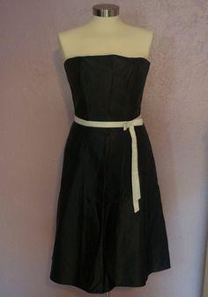 Jessica McClintock Black Satin Dress Sz 6 by SunscreenSeashells