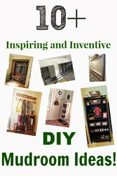 Clever ideas for your mud room or entryway!