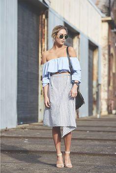 Street style: hombros descubiertos | #BlogAndrea