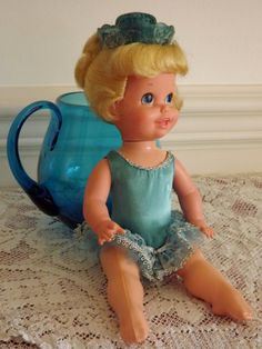 1969 Mattel Blonde Baby Dancerina Ballerina Doll by ForsythiaHill