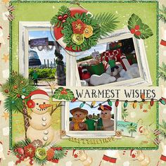 The Digichick :: Collections :: Seas & Greetings (collection) Christmas Scrapbook Layouts, Disney Scrapbook, Travel Scrapbook, Scrapbooking Layouts, Digital Scrapbooking, Scrapbook Designs, Beach Christmas, White Christmas, Christmas Traditions