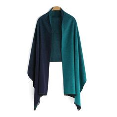 SheIn(sheinside) Green Ombre Vintage Scarve ($20) ❤ liked on Polyvore featuring accessories, scarves, cashmere shawl, green scarves, vintage shawl, ombre scarves and green shawl