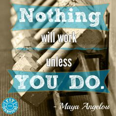 If you want results, work hard!
