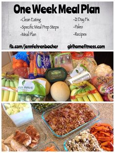 One week clean eating meal plan that is easy and uses simple ingredients. 21 day fix compliant and mostly paleo too!