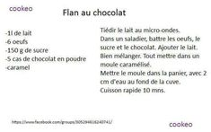 Flan au chocolat