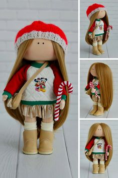 Art Interior Doll Removable Cloth Doll Christmas Gift Doll Handmade Tilda Doll Fabric Red Doll Poupée Muñecas Soft Rag Doll Textile Maria K This is handmade cloth doll created by Master Maria K (Moscow, Russia). Doll is 26 cm (10 inch) tall and made of only quality materials. Doll can be a great present for your children, family, colleages or friends. Style of doll easily helps to use such doll as home decoration and interior design.