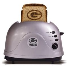 a Green Bay Packers toaster. we want to get this for our friends Rob & Linda.