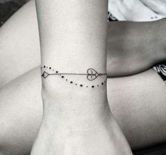 Heart tattoo bracelet