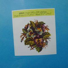 Alice Godkin Petit Point Kit AG-1053 Pansies 3 Thread 4.5 X 4.5 Inches Sealed   eBay