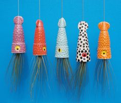 squid shaped hanging planters