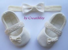 Baby girl shoesbalerina shoessoft sole shoescrib by Creatimity