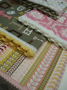 So smart!  Put lace on pillowcase first, then use the holes in the lace to crochet around!! ~d by cherie