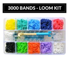 3000 Bands - Loom Kit Order your Loom Band Kits at www.loomkits.com.au! Free postage Australia Wide for orders over $15!
