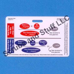 Medication Titration Badge Card Reference for Nurse Paramedic EMT for ID Badge Clip Strap or Reel Horizontal. $1.99, via Etsy.