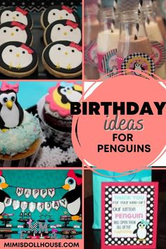 Throwing a penguin party for your little one. This penguin themed party is full of penguin treats and penguin party decorations and penguin party printables. Check it out! #penguin #parties #winter #girlparty #birthday #kidbirthday #kidbirthdays #birthdays #partyideas #diy #crafts Party Treats, Party Desserts, Girl Birthday, Birthday Parties, Penguin Party, Cute Penguins, Pink Parties, Childrens Party, Unicorn Party