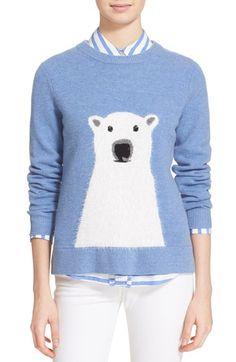 9419a44ae1fb kate spade new york polar bear merino wool blend sweater