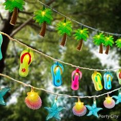 Tropical String Lights Ideas