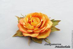 """Брошь из фоамирана """" Злата """" - брошь из фоамирана,броши из фоамирана,цветы из…"""