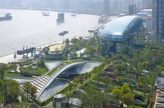 Idea Shanghai Port International Cruise Terminal by Frank Repas Architecture in Shanghai, China Monumental Architecture, Futuristic Architecture, Contemporary Architecture, Architecture Design, Landscape And Urbanism, Landscape Design, Shanghai, Example Of News, Town And Country