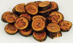 Apple Wood Rune Set