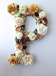 Cool Glue Gun Crafts and DIY Projects - DIY Flower Letter - Creative Ways to Use Your Glue Gun for Awesome Home Decor, DIY Gifts , Jewelry and Fashion - Fun Projects and Easy, Cheap DIY Ideas for Kids, Adults and Teens - Handmade Christmas Presents on A Budget diyprojectsfortee...
