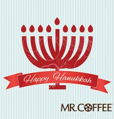 Happy Hanukkah from Mr. Coffee® Brewers! #Coffee #Hanukkah #MrCoffeeHoliday