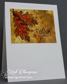 Thank you watercolor card by Loll Thompson