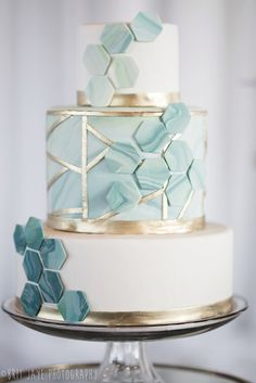 Top of the Market Wedding Venue Open House — Ohio Wedding Ph.- Top of the Market Wedding Venue Open House — Ohio Wedding Photography modern teal and gold wedding cake - Wedding Photography Inspiration, Wedding Inspiration, Cake Inspiration, Bolo Cake, Teal And Gold, Metallic Gold, Navy Blue, Dusty Blue, Rose Gold