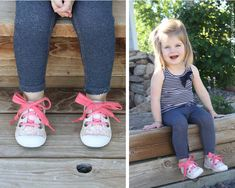 Turn lace-up shoes to slip-on's (with elastic shoelaces and an attached bow) Ugly Outfits, Kids Outfits, Kids Fashion Boy, Diy Fashion, Lace Up Shoes, Me Too Shoes, Elastic Shoe Laces, How To Make Shoes, Kid Styles