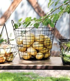 I would love to get a vintage egg basket to collect eggs in!