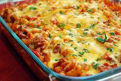 Cheesy chili macaroni