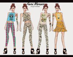 Auriele (desenhos de Moda): Auri Moraes Inspiration!