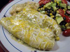 Shrimp Enchiladas Verde