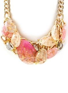 Gold Flecks Statement Necklace | http://www.emmastine.com/Pages/Fashion-Jewelry-Necklaces-and-Jewelry-Set.php?pid=12197=1=3=type56=HardPin=Pinterest=HSESL