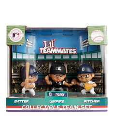 Look what I found on #zulily! Detroit Tigers Lil' Teammate Figurine Set by Party Animal #zulilyfinds