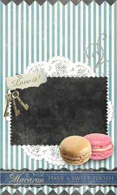 Macaron themed wallpaper