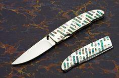 custom knives | Koji Hara Custom Knives - Custom Folder Abalone Inlays