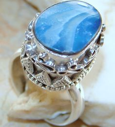 Shop Natural Fire Opal Ring : Opal SIlver Ring India