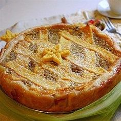 This fruity ricotta and wheat pie is dense and moist and very good. A real Italian treat for Easter.