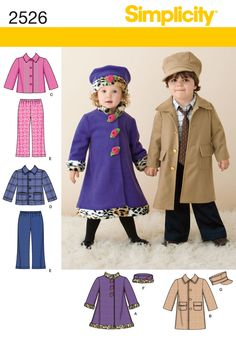 Simplicity 2526 from Simplicity patterns is a Toddler Sportswear sewing pattern