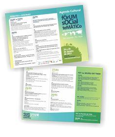 Folder de programação Fórum Social Temático 2012 S.L.