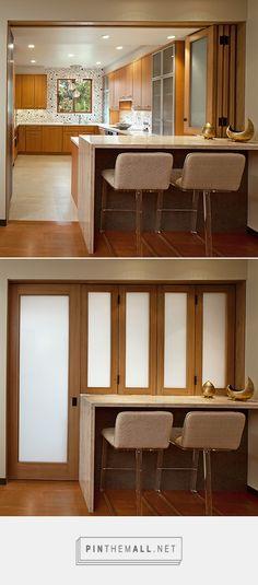 HOME DZINE Kitchen | Closing off an open-plan kitchen or semi open-plan kitchen design - created via https://pinthemall.net