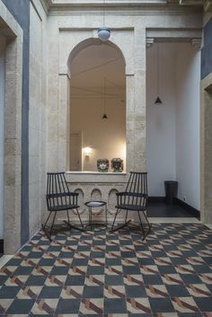 Asmundo di Gisira, design residence and legends in Catania - Italian Ways Catania, Black Wooden Floor, Famous Elephants, Six Hotel, Wooden Flooring, B & B, Accent Decor, Contemporary Design, Brick