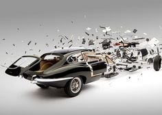 Exploded Views of Classic Sports Cars by Fabian Oefner