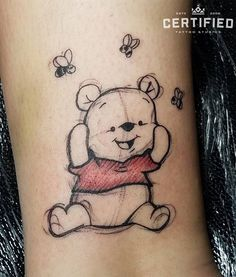 Winnie the Pooh tattoo by German Fernandez! Have fun and Winnie the Pooh Tattoo von German Fernandez! Viel Spaß und lass dein Innerstes raus … Winnie the Pooh tattoo by German Fernandez! Have fun and let your inside out …, - Tattoo Studio, Unique Tattoos, Small Tattoos, Body Art Tattoos, Sleeve Tattoos, Tatoos, Mens Tattoos, Winnie The Pooh Tattoos, Pooh Winnie